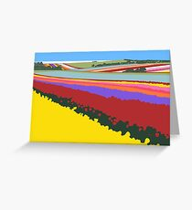 Tulip Fields, Table Cape Greeting Card