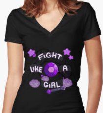 Amethyst Women's Fitted V-Neck T-Shirt