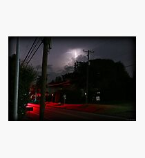 Small Town Summer Night Photographic Print
