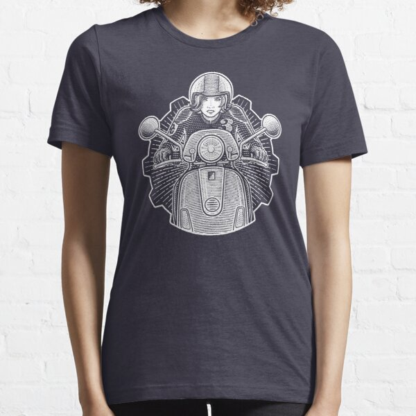 Scooter Girl [white print] Essential T-Shirt