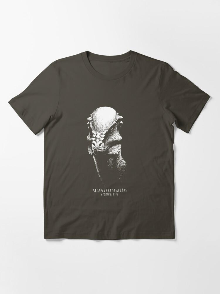 Alternate view of Pachycephalosaurus Essential T-Shirt