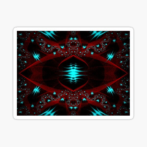 Abstract Gem Covered Rose Sticker