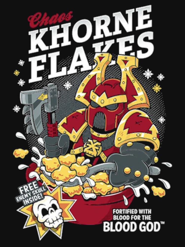 Chaos Khorne Flakes T-Shirt Essential T-Shirt by ErikKatona