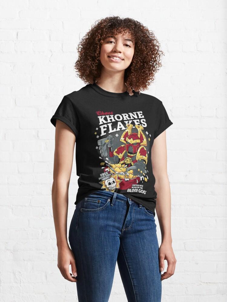 Alternate view of Chaos Khorne Flakes T-Shirt Essential T-Shirt Classic T-Shirt