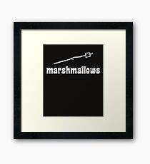 Marshmallow  Framed Print