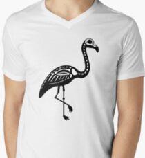Pink Skelingo Mens V-Neck T-Shirt