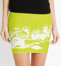 Moto-Lime Mini Skirt