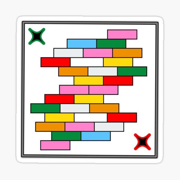 Colorful Puzzle Design Sticker