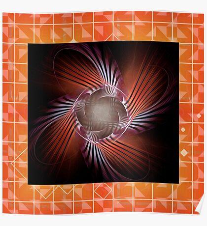 Autumn Colors Pinwheel Poster