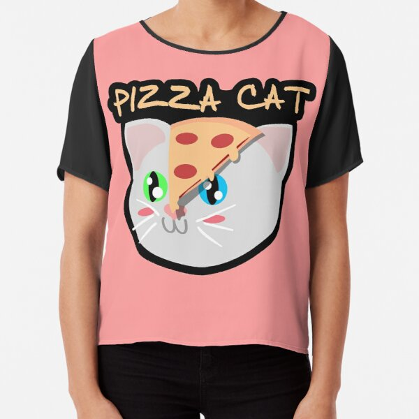 Pizza Cat Chiffon Top
