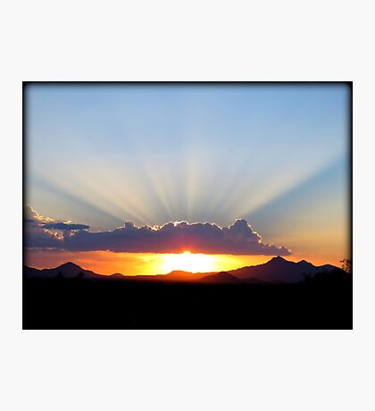 Crepuscular Rays Photographic Print