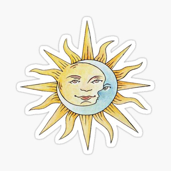 El romance del sol y la luna Pegatina