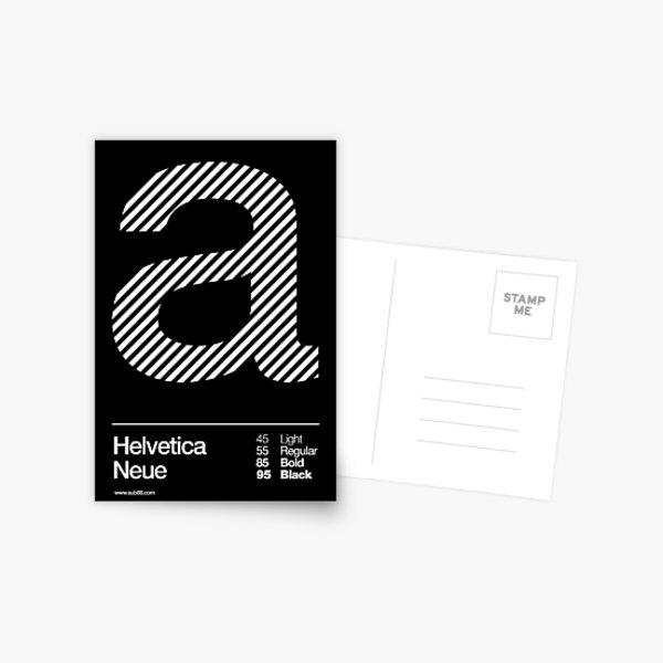 a .... Helvetica Neue Postcard