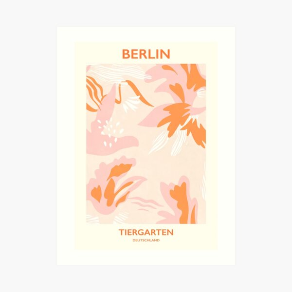 Flower Market Berlin Pink Aesthetic Art Print