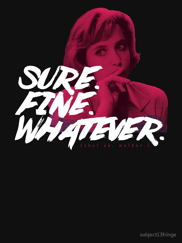 Sure. Fine. Whatever. (Pink) by subject13fringe