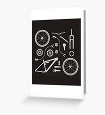 Bike Exploded, Bike Parts Full Suspension Airfix Greeting Card