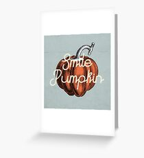 Smile Pumpkin Greeting Card