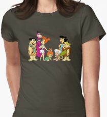all familly Fred Flintstone Womens Fitted T-Shirt