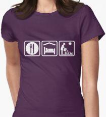 Funny Eat Sleep Gardening Women's Shirt Womens Fitted T-Shirt