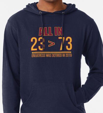 23 ist größer als 73 Leichter Hoodie