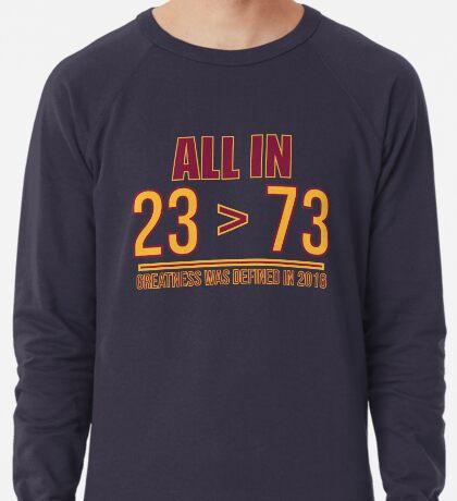 23 ist größer als 73 Leichter Pullover