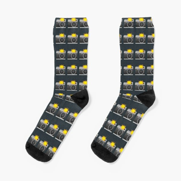 Camera with Flash Gift for photographers Socks