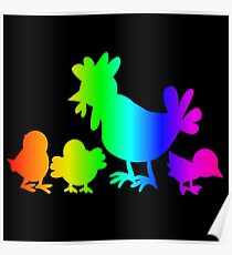 Rainbow Poultry Poster