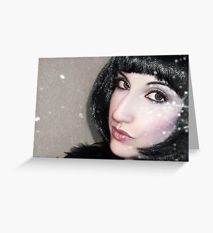 Shimmer - Self Portrait Greeting Card