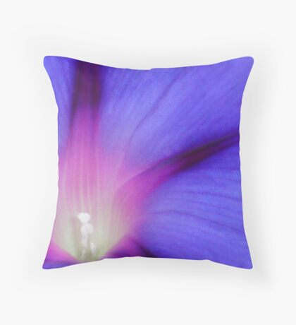Macro of A Royal Purple Ipomoea Flower Throw Pillow