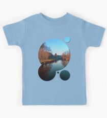 Winter mood on the river | waterscape photography Kids Clothes
