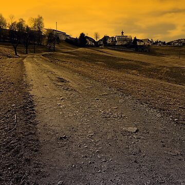 Path up to the village at evening | landscape photography by patrickjobst