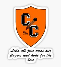 Chudley Cannons Logo with Motto Sticker