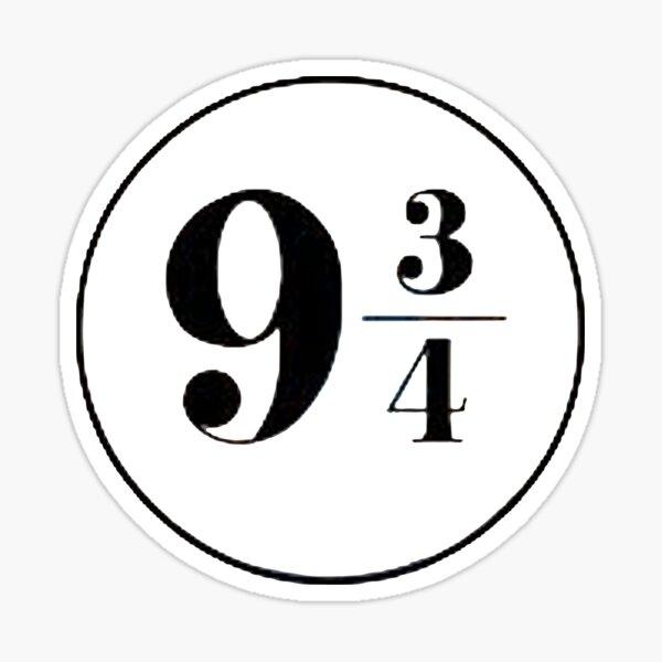 Platform 9 3/4 - Symbol Sticker