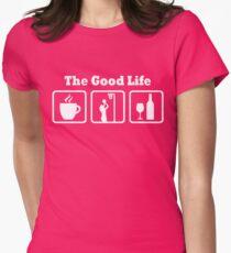 Netball Good Life Funny Girls Shirt Womens Fitted T-Shirt