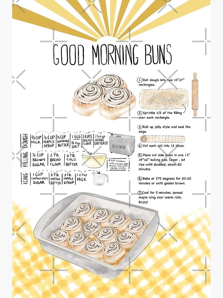 Illustrated Cinnamon Roll Recipe by emeraldlane