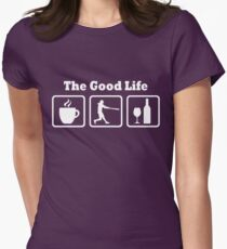 Funny Softball Good Life Women's Shirt Womens Fitted T-Shirt