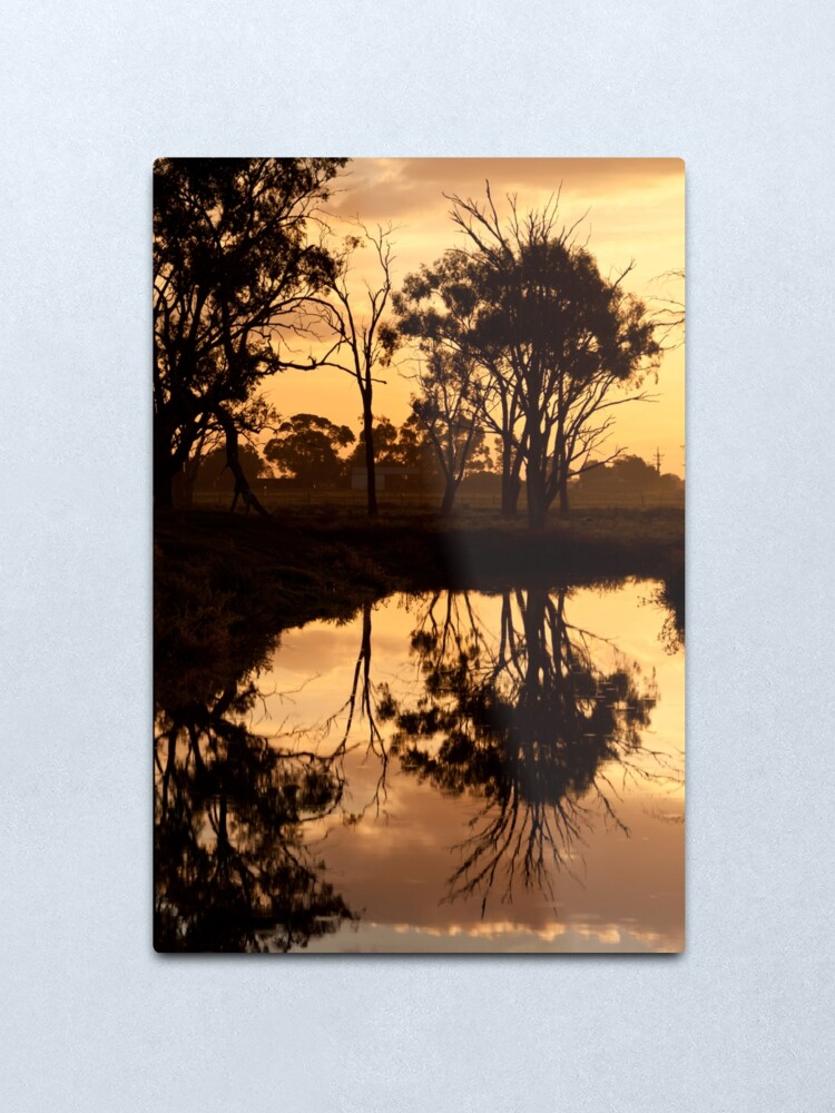 Alternate view of Reflections - Tongala Victoria Australia Metal Print