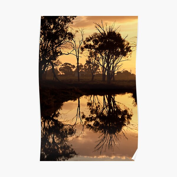 Reflections - Tongala Victoria Australia Poster