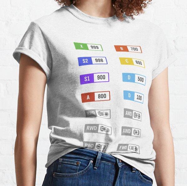 Forza Horizon Performance Index / Classes Classic T-Shirt