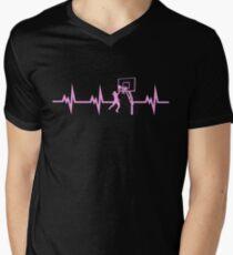 Basketball Girls Heartbeat  V-Neck T-Shirt