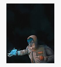Super Cool Space Girl Photographic Print