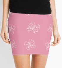 Butterfly on pink Mini Skirt
