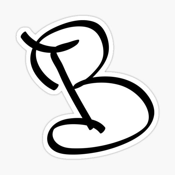 La letra B Pegatina