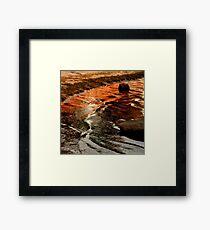 Sunset colours on the beach Framed Print