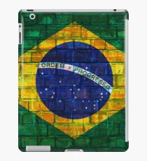 Brazil flag painted on a brick wall in an urban location iPad Case/Skin