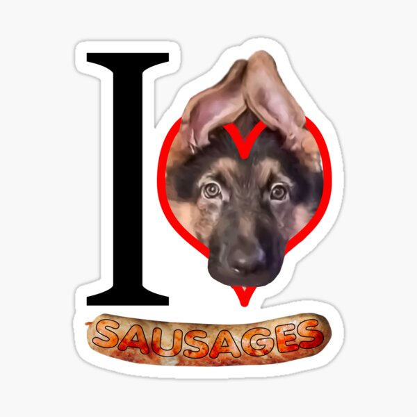 German Shepherd Humorous design for Cute Pet Puppy Dog lovers Sticker