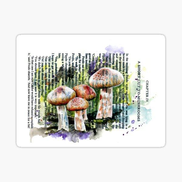 A Short Cut to Mushrooms Sticker