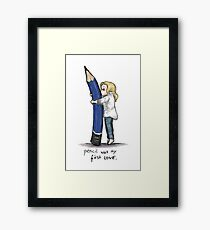 Pencil Was My First Love Framed Print