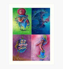 "Super Mario Bros 2 Collection ""Please Select Player"" Art Print"