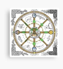 Wheel of the Year - Colour Canvas Print